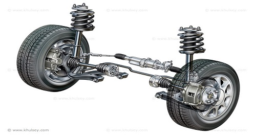 Car Steering and Suspension Unit by Kevin C. Hulsey